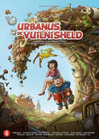 Inlay van Urbanus: De Vuilnisheld